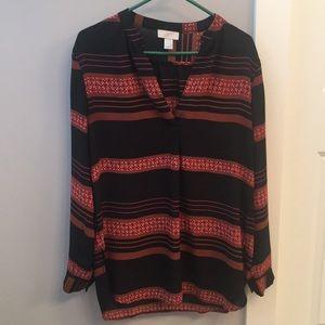 Loft long sleeve blouse, Size M